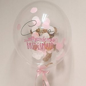 bridemaid balloon gift
