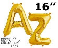 16 inch gold balloon letters