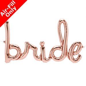 bride rose gold balloon