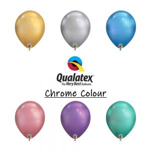 chrome balloons qualatex