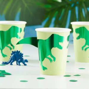 dinosaur cups with 3d tails