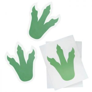 dinosaur foot print stickers close