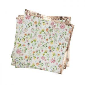 floral napkin close