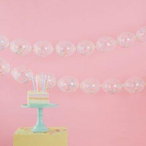 linking confetti balloons