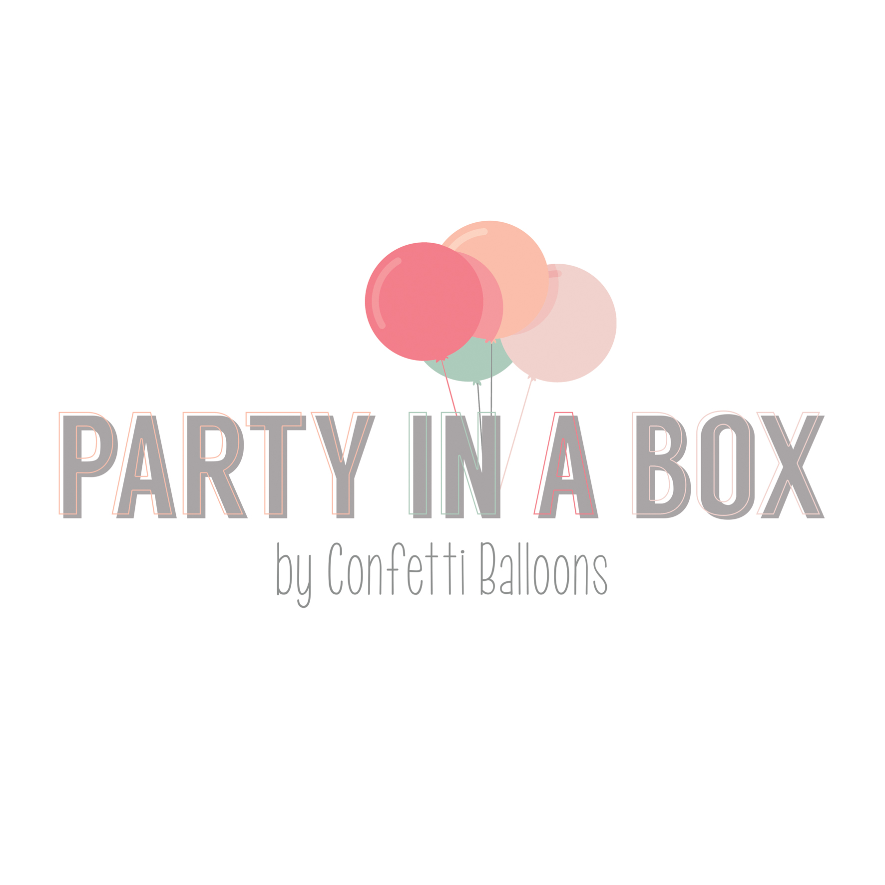 party in a box confetti balloons