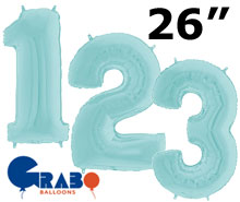 pastel number 26 inch balloon numbers