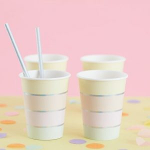 pastel paper cups