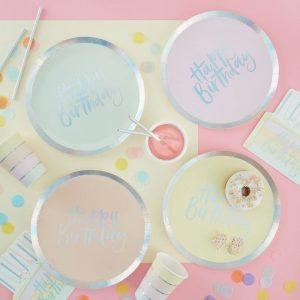 pastel paper plates