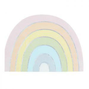 pastel rainbow napkin