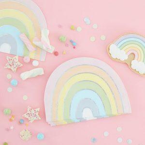 pastel rainbow napkins