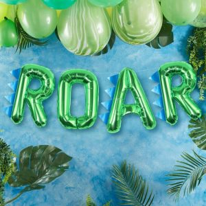 roar balloon bunting