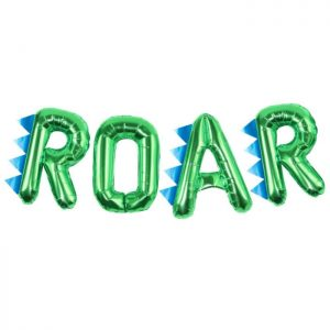 roar balloon bunting close