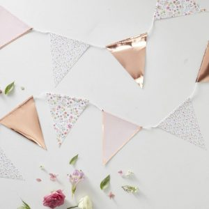 rose gold party bunting