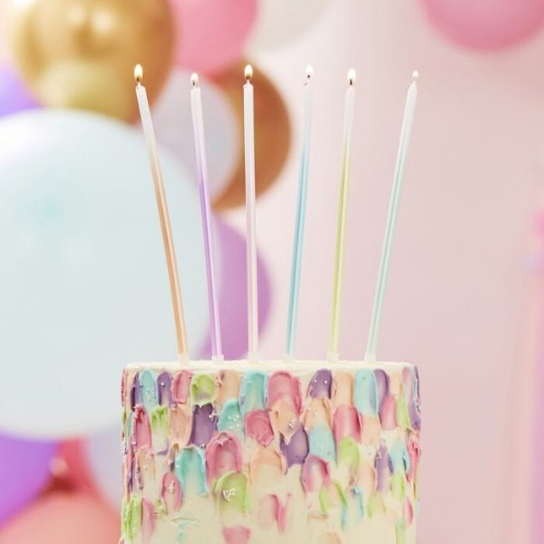 tall pastel ombre candles