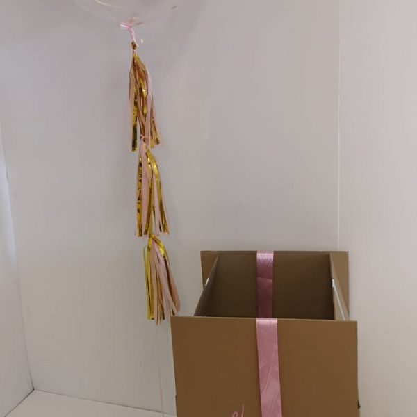 Pink & Gold Bubble Balloon Boxed
