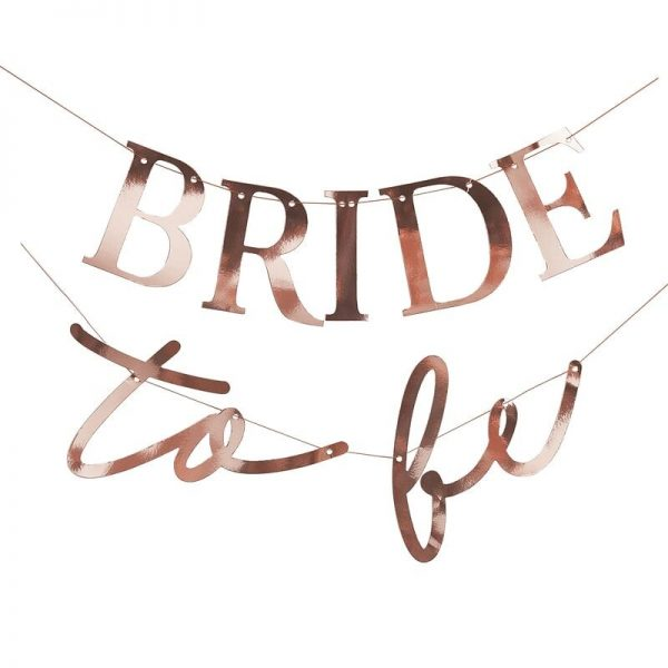 bride to be bunting close up