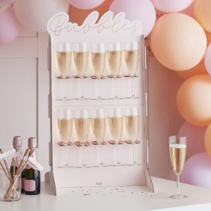 bubbles prosecco wall
