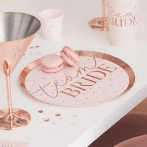 team bride hen party plates