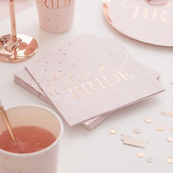 team bride napkins