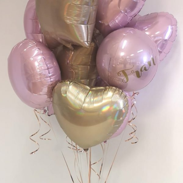 bunch of 12 balloons with message foil balloon at the top