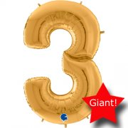 giant balloon number gold 3