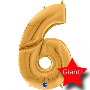 giant balloon number gold 6