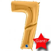 giant balloon number gold 7