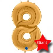 giant balloon number gold 8