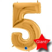 giant balloon number gold five