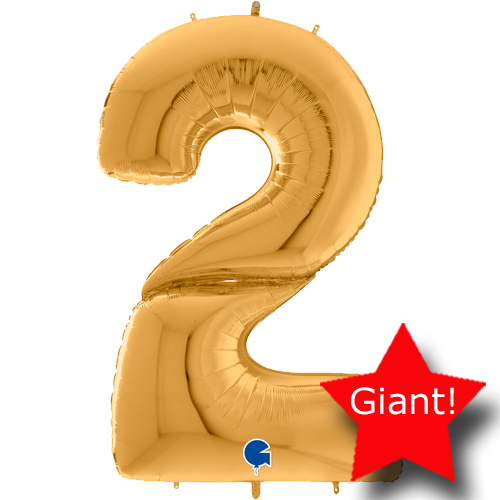 giant balloon number gold