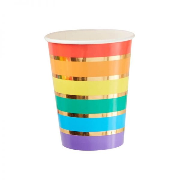 rainbow paper cup single