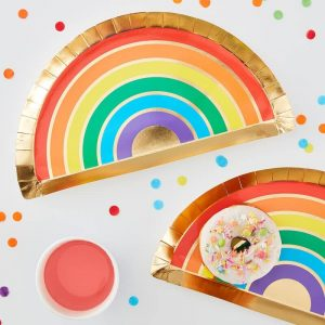 rainbow shaped paper plate