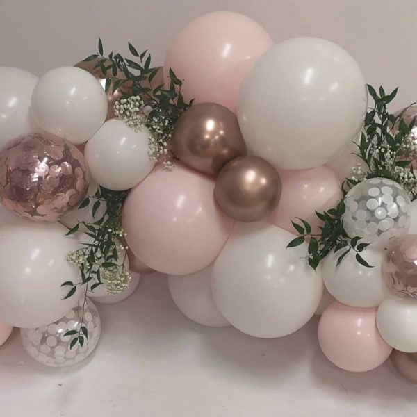 small cluster pink blush rose gold