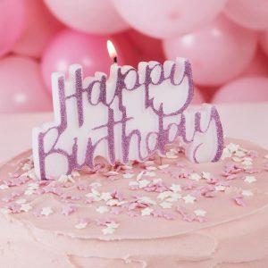 happy birthday cake stargazer candle