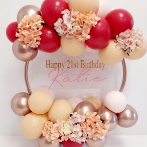 balloon hoop, rose gold, blush & wild berry & dusty pink