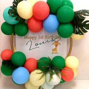 jungle balloon hoop