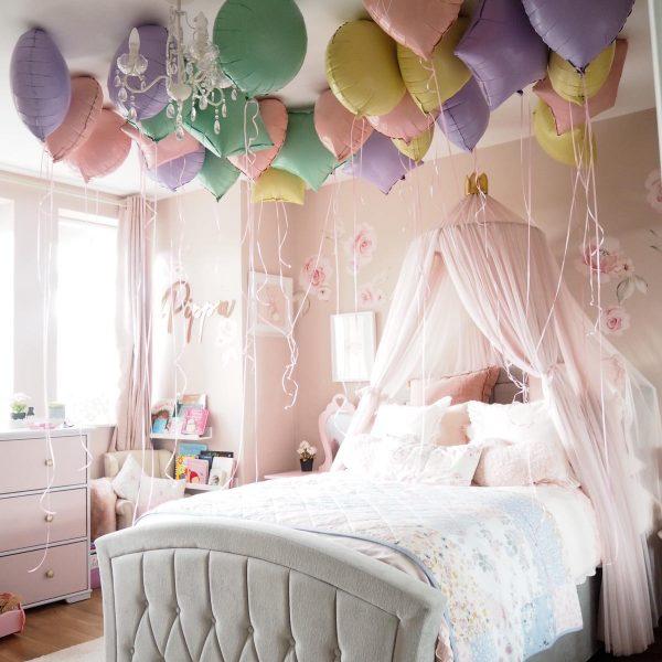 foil balloon ceiling