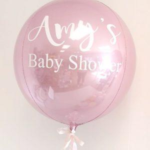 light pink baby shower orb