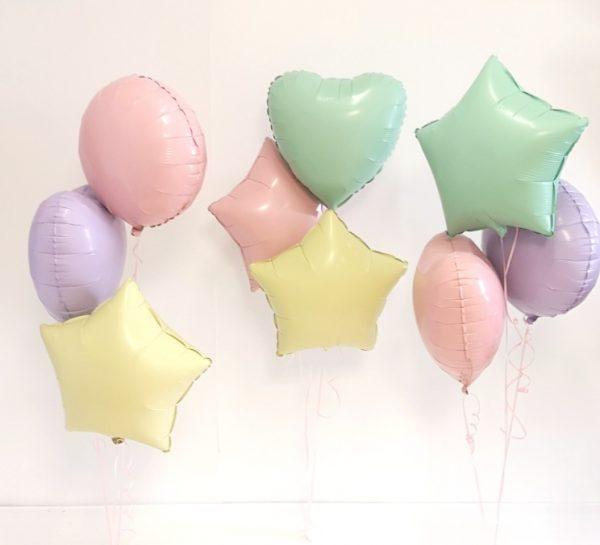 pastel balloon bunches
