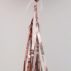 personalised rose gold orb balloon tassel tail
