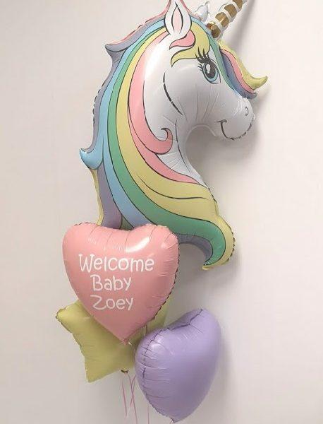 unicorn balloon bunch