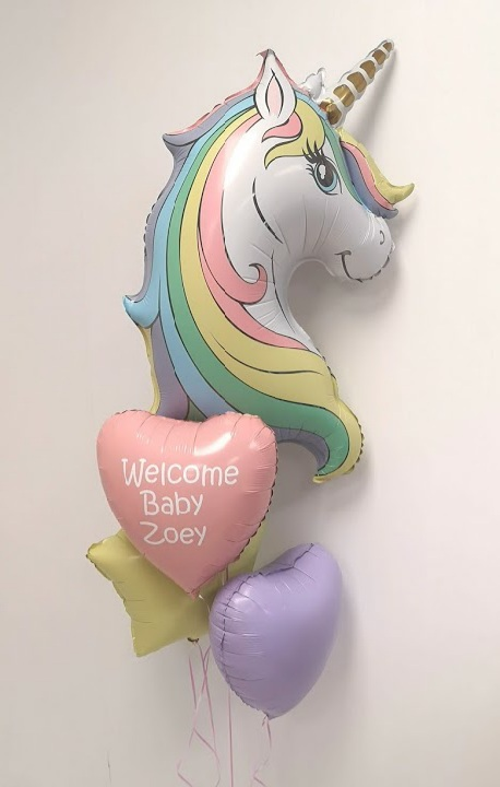unicorn balloon bunch