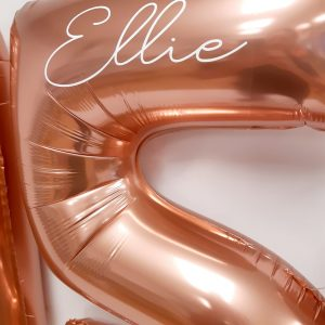 rose gold number balloon personalised