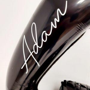 black number balloon