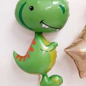 dino balloon close up