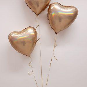 gold foil ballooon bunch