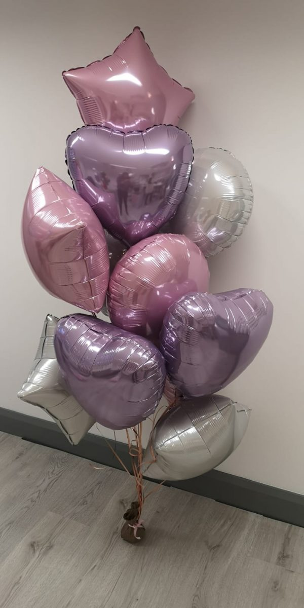 personalised large balloon bunches pink