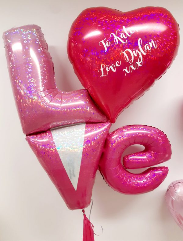 valentines day balloon close up