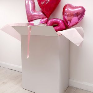 valentines day balloon package lager white box