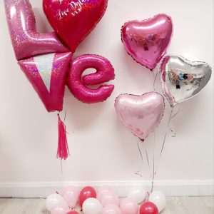 valentines day balloon package pink love